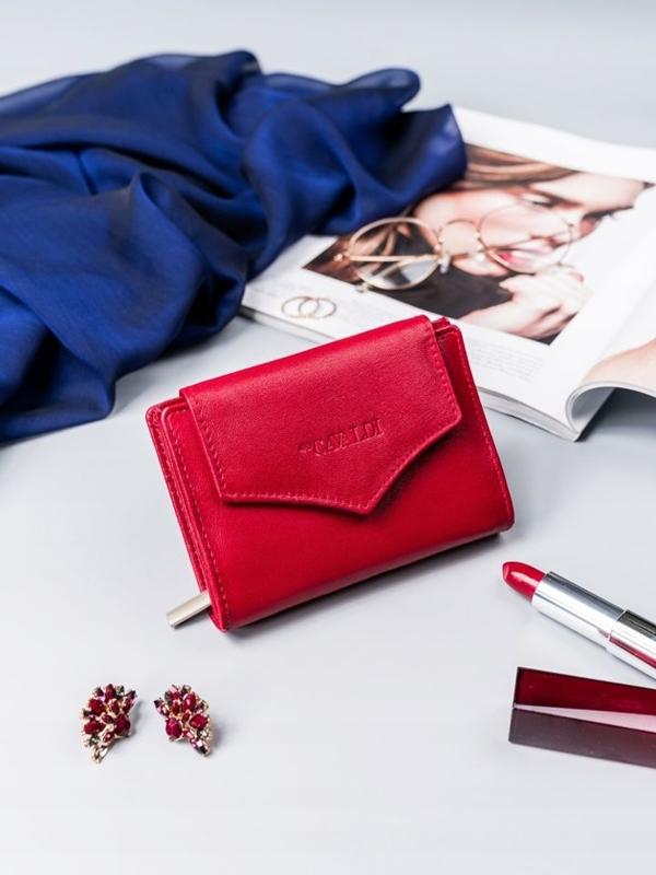 Dámská červená kožená peněženka 2409