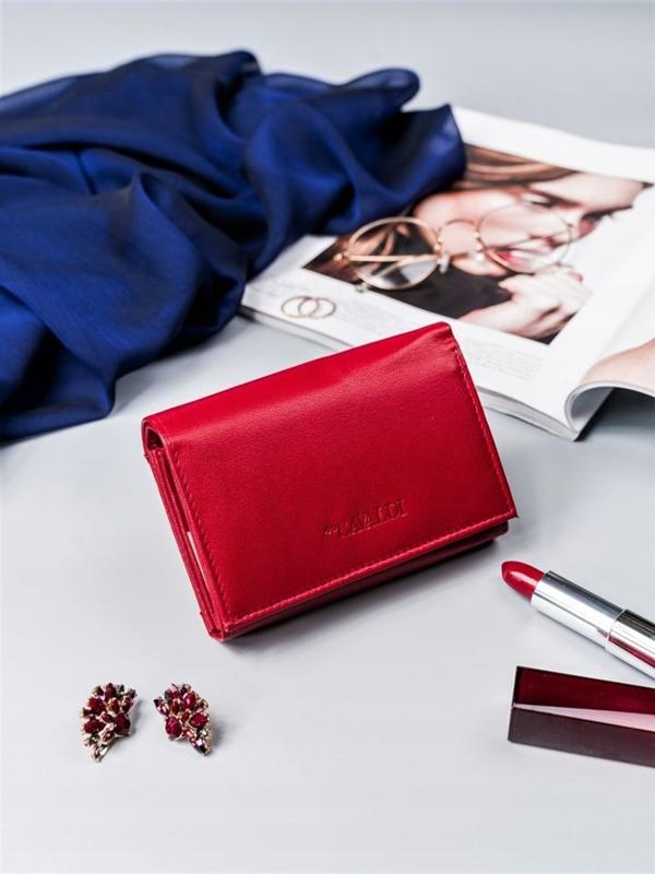 Dámská červená kožená peněženka 2410