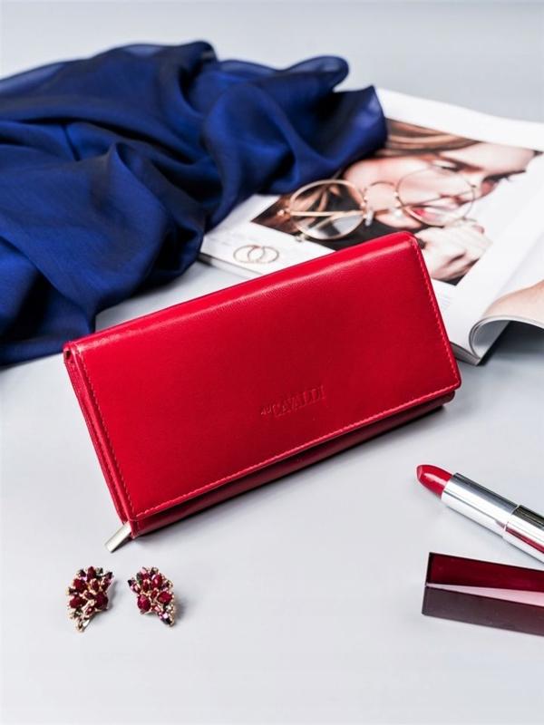 Dámská červená kožená peněženka 2418