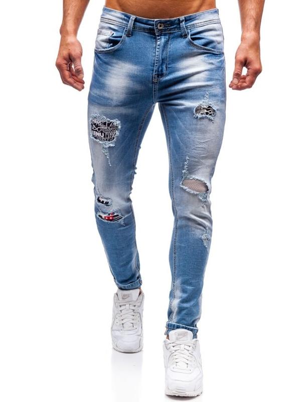 Modré pánské džíny Bolf 3940