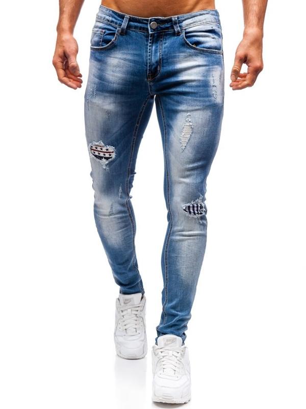 Modré pánské džíny Bolf 3950