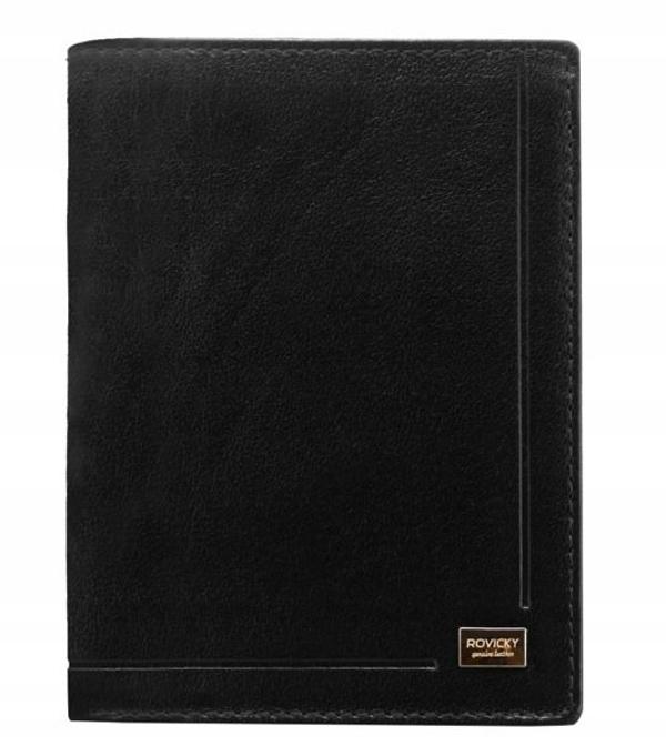 Pánská černá kožená peněženka 190