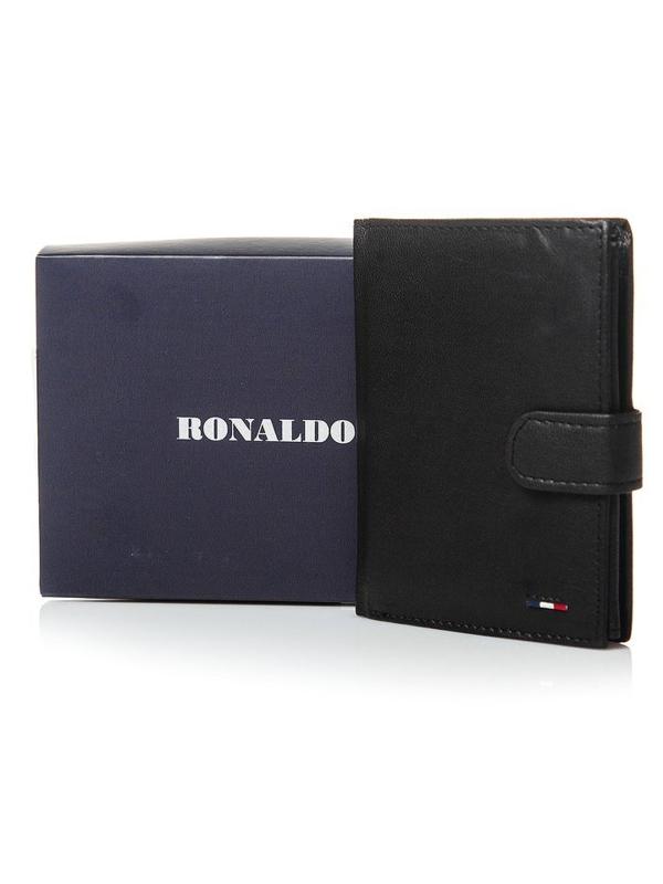 Pánská černá kožená peněženka 3078
