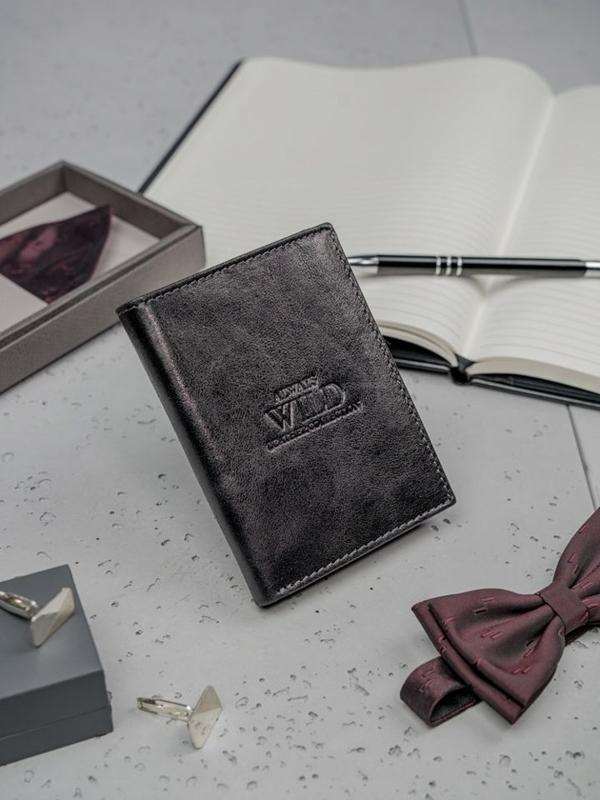 Pánská černá kožená peněženka 3133
