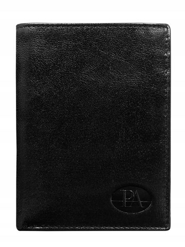 Pánská černá kožená peněženka 349