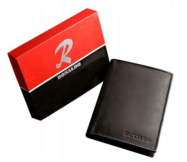 Pánská černá kožená peněženka 602