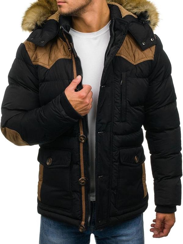 Pánská černá zimní bunda Bolf 3079