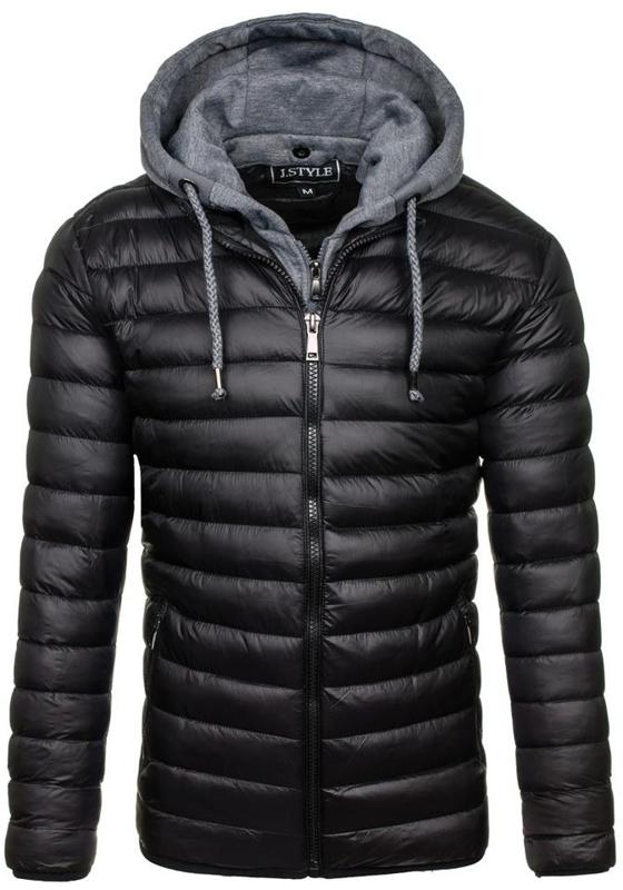 Pánská černá zimní bunda Bolf 3110