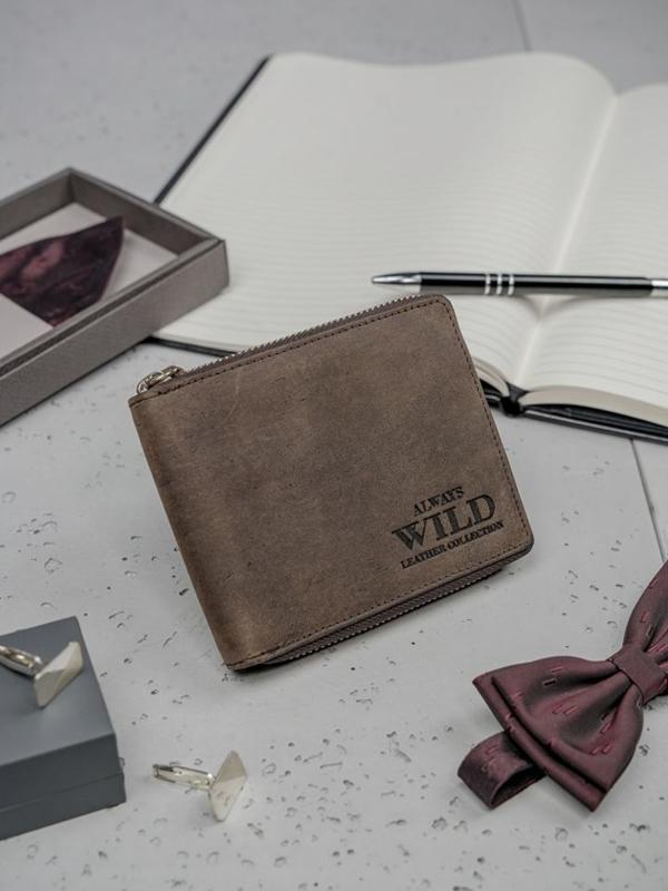 Pánská hnědá kožená peněženka 3151