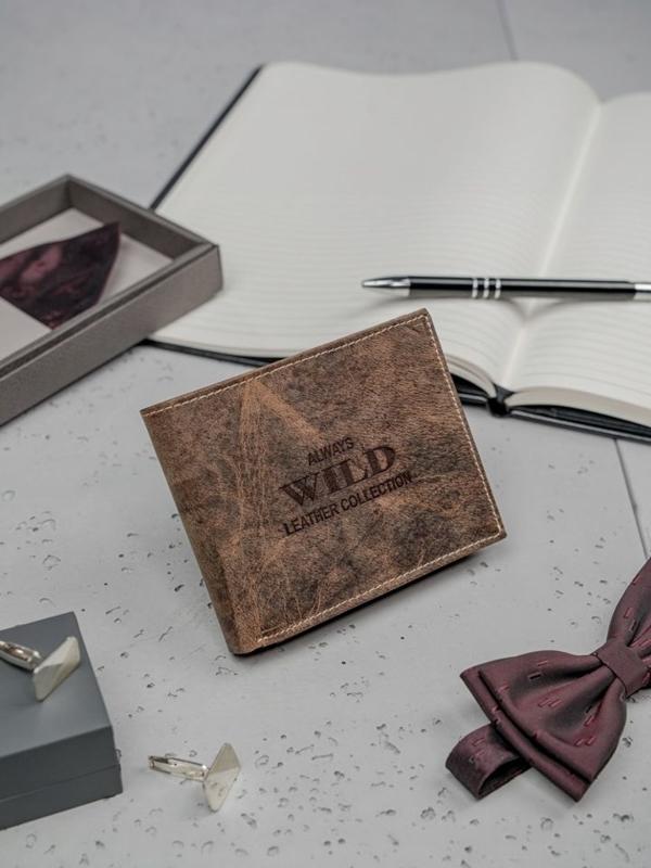 Pánská hnědá kožená peněženka 3197