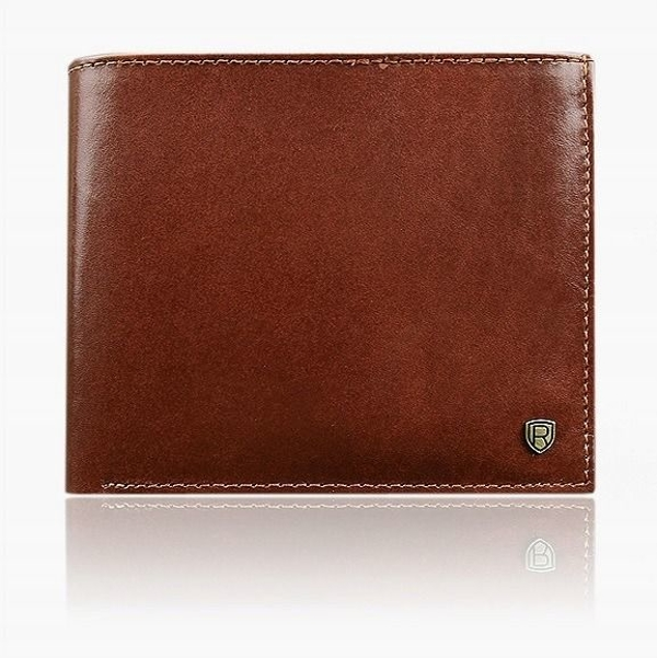 Pánská hnědá kožená peněženka 918