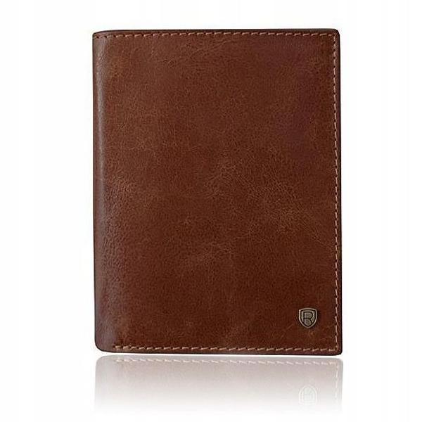 Pánská hnědá kožená peněženka 921