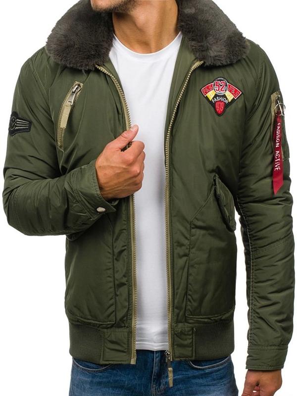 Pánská khaki přechodná bunda Bolf 3151
