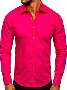 Pánská košile BOLF 1703 koralová