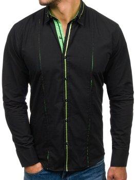 Pánská košile BOLF 2964 zelená