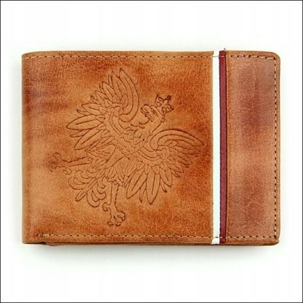 Pánská světle hnědá kožená peněženka 682