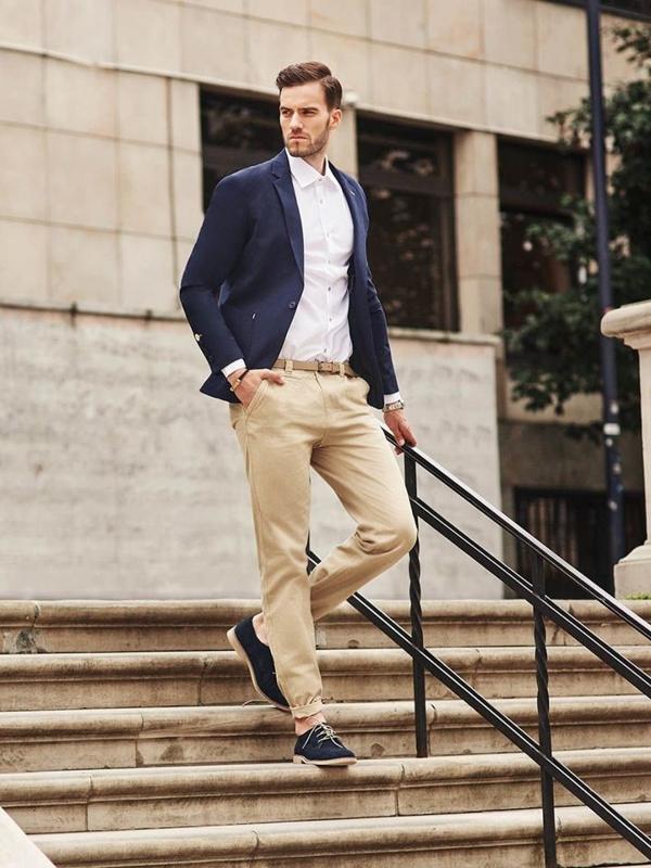 Stylizace č. 285 - hodinky, sako, elegantní košile, chino kalhoty