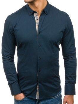 Tmavě modrá pánská košile Bolf 7197