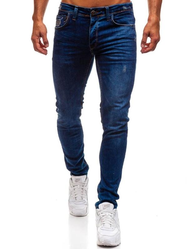 Tmavě modré pánské džínové kalhoty Bolf 1193