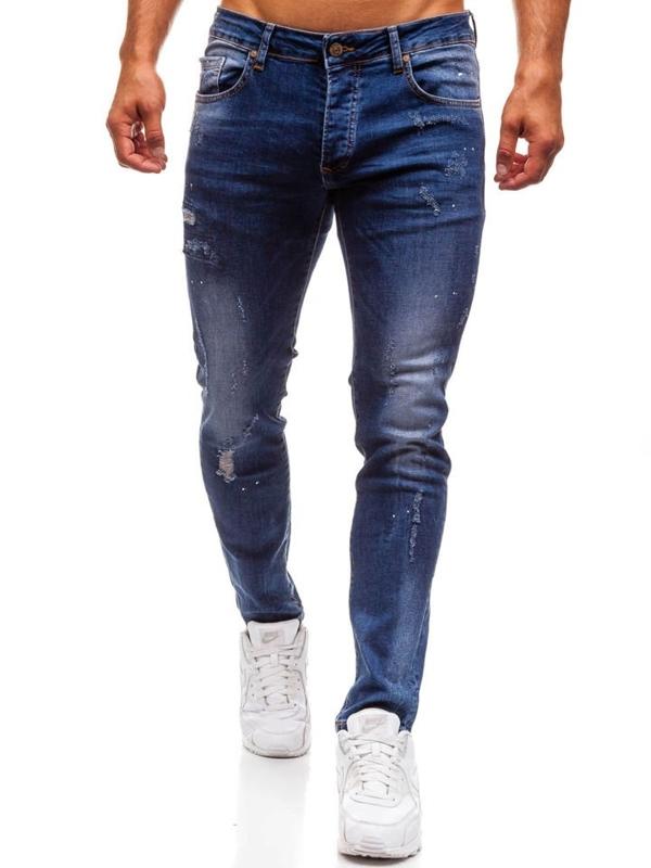 Tmavě modré pánské džíny Bolf 8023