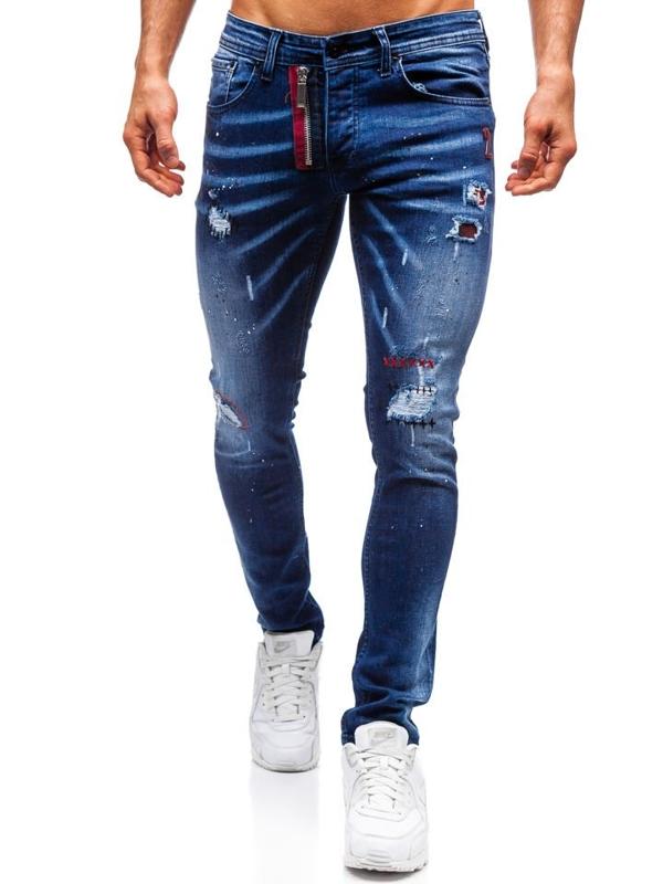 Tmavě modré pánské džíny Bolf 9237