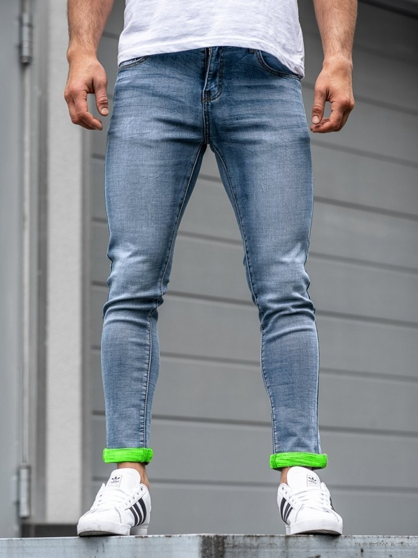 Tmavě modré pánské džíny Bolf KX162