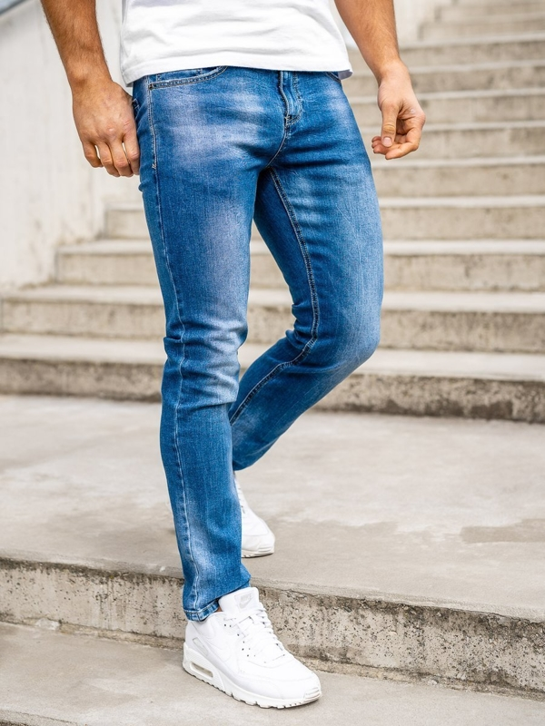 Tmavě modré pánské džíny regular fit Bolf KA1723