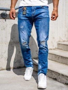 Tmavě modré pánské džíny skinny fit Bolf 85005S0