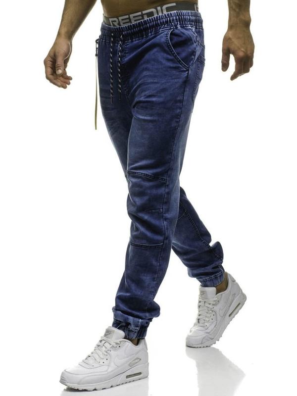 Tmavě modré pánské jogger kalhoty Bolf HY183