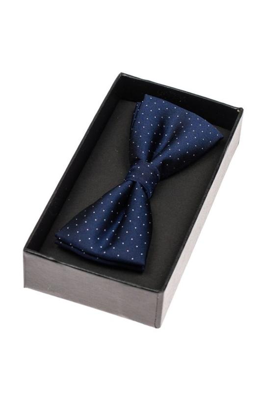 Tmavě modro-bílý pánský elegantní motýlek Bolf M035-A