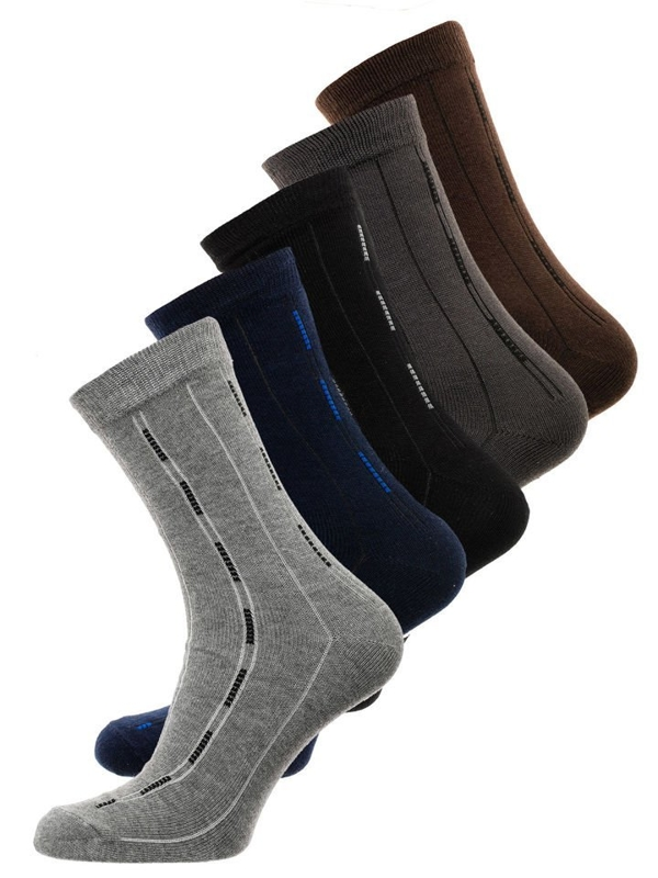 Vícebarevné pánské ponožky Bolf X10072-5P 5 PACK