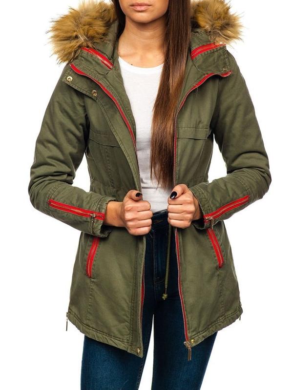 Zelená dámská zimní bunda Bolf M888