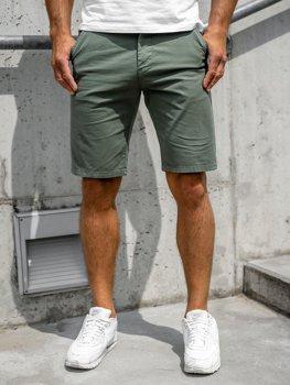 Zelené pánské džínové kraťasy Bolf 6142