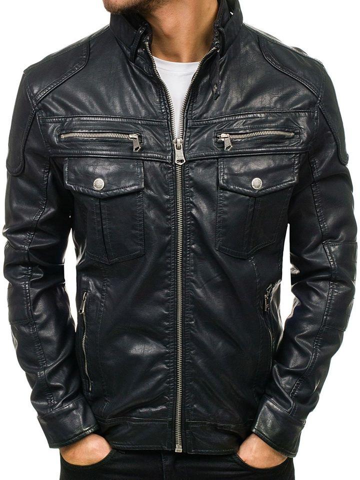 ... Černá pánská koženková bunda Bolf 3051 ... 2bedd44ff23