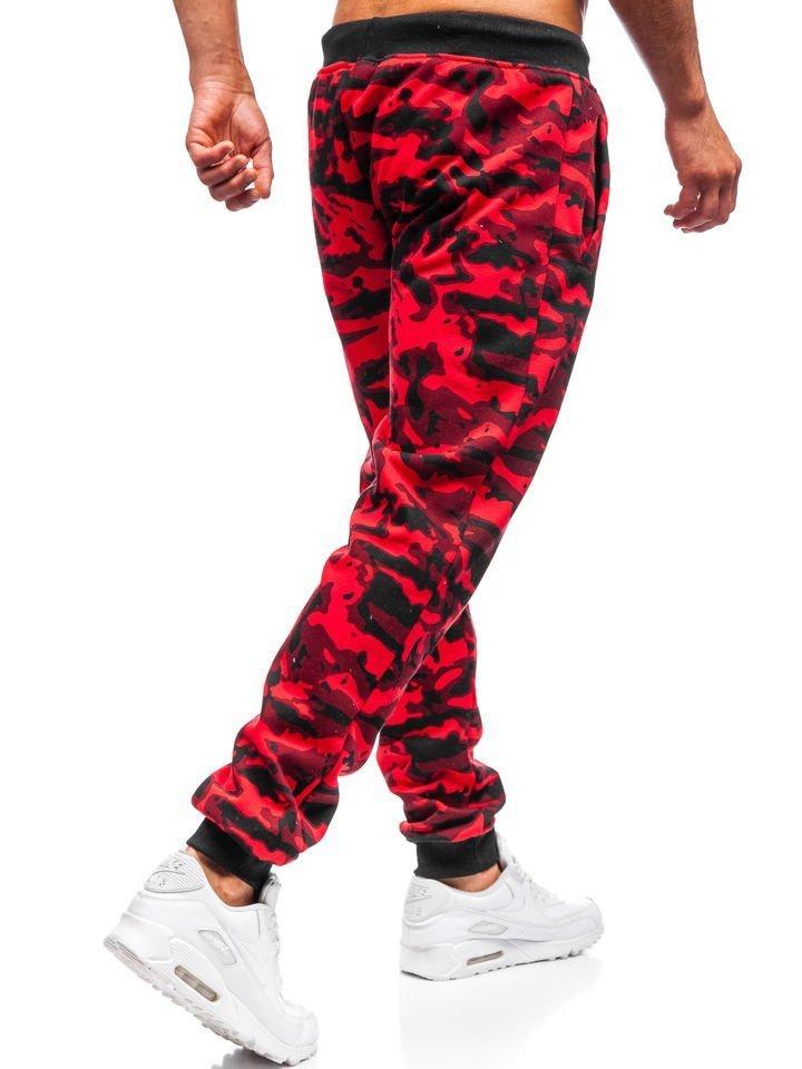 Červené pánské maskáčové jogger tepláky Bolf 55093 894ae7b00a