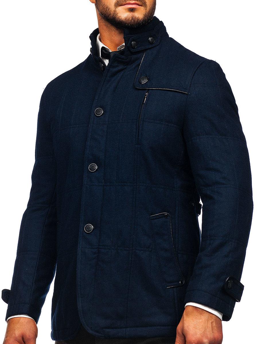 1f24b5fcfe64 Tmavě modrý pánský kabát Bolf EX66A
