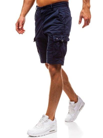 Tmavě modré pánské kapsáčové kraťasy Bolf 82223