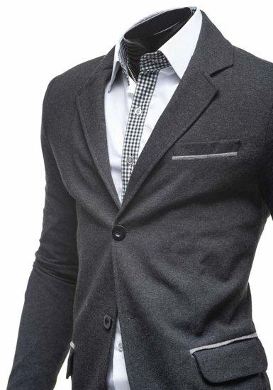 Antracitovo-šedé pánské sako Bolf 606-K
