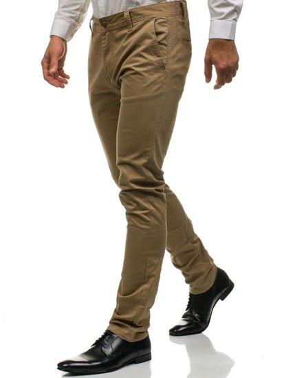 Béžové pánské chino kalhoty Bolf 6807