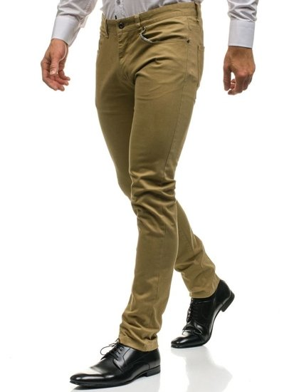 Béžové pánské chino kalhoty Bolf HO8