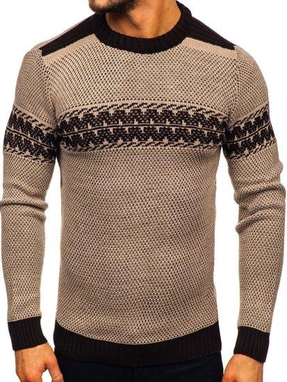 Béžový pánský svetr Bolf 1806