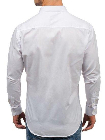 Bílá pánská elegantní košile s dlouhým rukávem Bolf TS100
