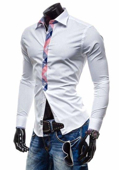 Bílá pánská košile Bolf 4770