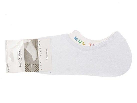 Bílé pánské nízké ponožky Bolf 80015