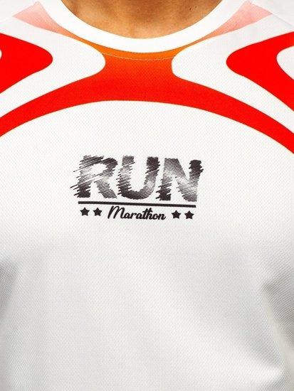 Bílé pánské sportovní tričko s potiskem Bolf KS2062