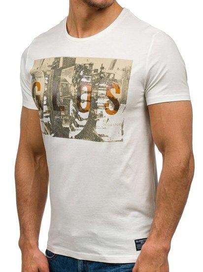 Bílé pánské tričko Bolf 7462