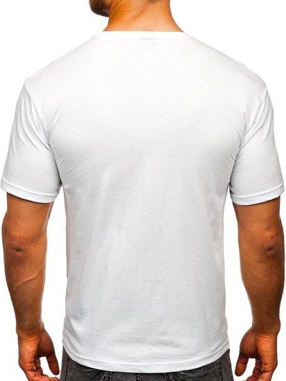 Bílé pánské tričko s potiskem Bolf 14336