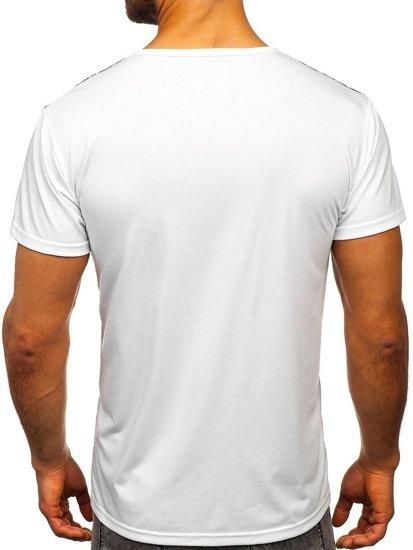 Bílé pánské tričko s potiskem Bolf KS1983