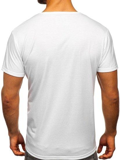 Bílé pánské tričko s potiskem Bolf KS1986