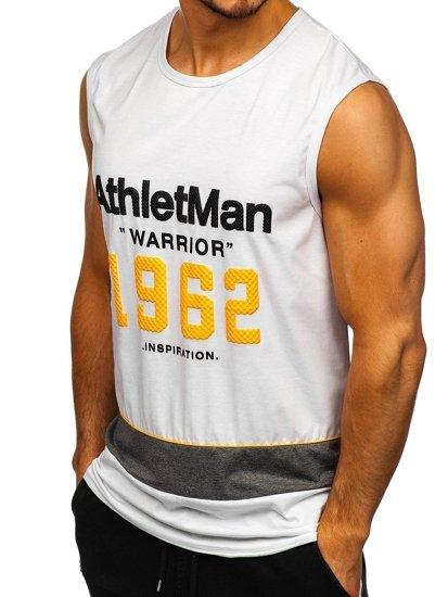 Bílé pánské tričko s potiskem Bolf SS11081